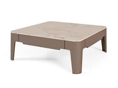 Low marble coffee table for living room PALAIS ROYAL | Square coffee table