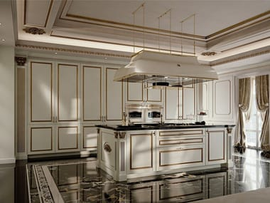 Lacquered fitted kitchen with island PALATINA