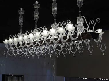 Lampada a sospensione a LED in vetro di Murano PALAZZO DUCALE | Lampadario