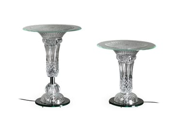 Tavolino rotondo in vetro PALAZZO DUCALE | Tavolino