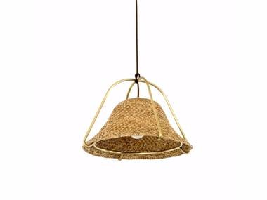 Lampada a sospensione in legno PALEAE | Lampada a sospensione