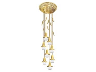 Lampada da soffitto in ottone PALERMO II GLASS & EDISON