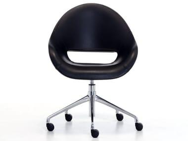 Chaise de bureau pivotante à 5 rayons à roulettes PALM HO