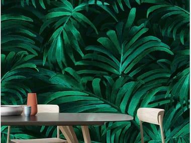 Papel de parede ecológico lavável livre de PVC PALM PLETHORA