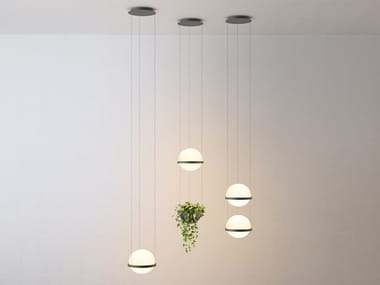 LED blown glass pendant lamp PALMA | Pendant lamp
