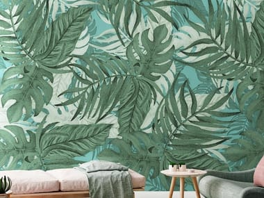 Tropical wallpaper, PVC free, eco, washable PALMANIA