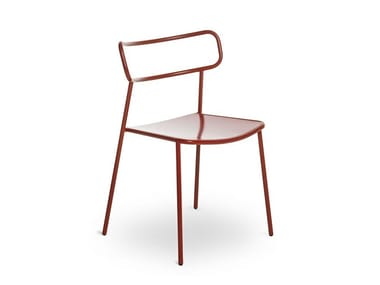 Stackable metal chair PALOMA