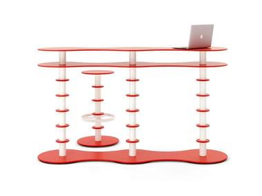 VittEr® Reception desk PANCAKE LIGHT | Reception desk