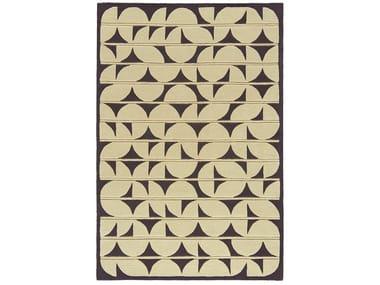 Rectangular wool rug with geometric shapes PANDORA