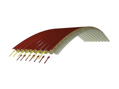 Insulated metal panel for roof PANEL C-GG AIR ROCKWOOL