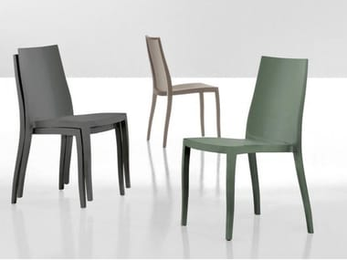 Stackable polypropylene chair PANGEA
