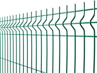 Plasticized electrically welded mesh Fence PANOPLI