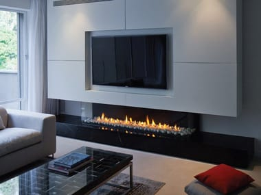 Gas 3-sided built-in fireplace PANORAMA 150