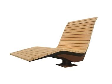 Silla para exteriores de madera PANORAMA 2