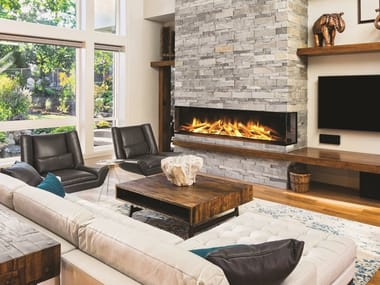 Electric built-in glass fireplace with remote control PANORMA GF3 1030