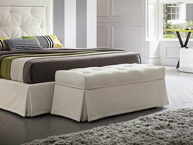 Storage upholstered fabric bench PANQUETTE | Storage bench
