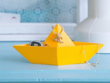 Pin tray in painted steel PAPER BOAT