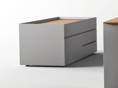 Aluminium office drawer unit PAPER | Office drawer unit