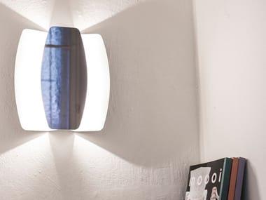 Applique a LED in acciaio verniciato a polvere con dimmer PAPILLON