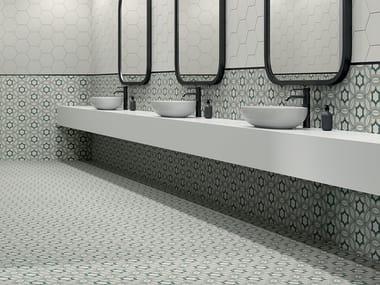 Pavimento/rivestimento in gres porcellanato effetto cementine PAPRICA P4 COLORE