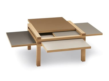 Low solid wood coffee table PAR4 H40