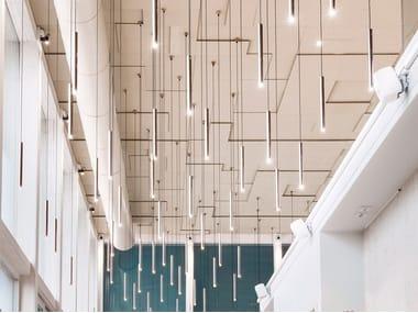 Acoustic rock wool ceiling tiles PARAFON STEP
