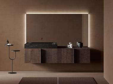 Sectional wooden vanity unit PARAL | Wooden vanity unit