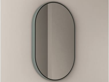 Oval mirror with integrated lighting PARENTESI | Oval mirror