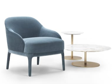 Velvet armchair with armrests PARIS | Velvet armchair