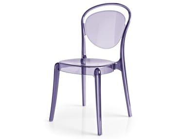 Stackable polycarbonate chair PARISIENNE