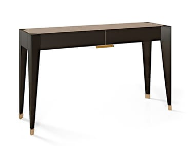 Lacquered rectangular console table with drawers PARK AVENUE | Console table