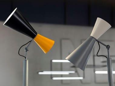 Adjustable aluminium floor lamp PARLIAMENT