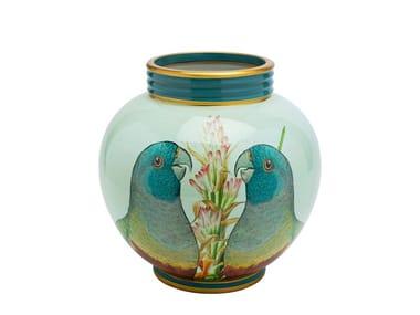 Vaso in porcellana PARROT COUPLE | Vaso