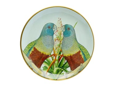 Porcelain plate PARROT COUPLE | Plate