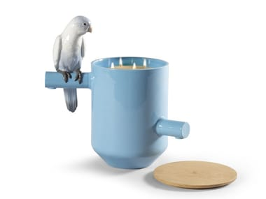 Porcelain candle holder PARROT'S SCENTED TREASURE