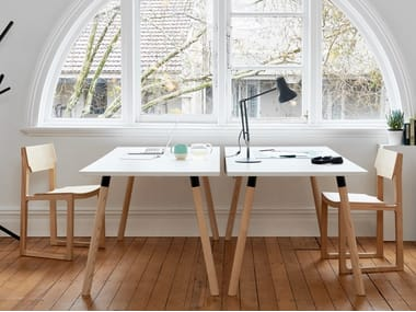 Rectangular wooden writing desk PARTRIDGE | Writing desk