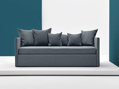 Sectional fabric sofa bed with removable cover PARTY
