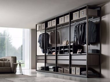 Aluminium walk-in wardrobe PASS