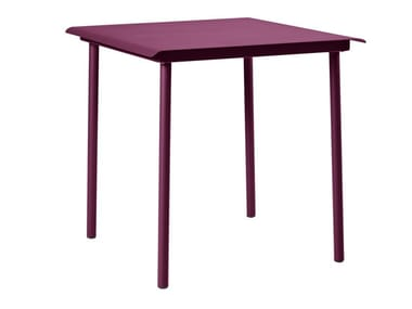 Square stainless steel garden table PATIO | Square table