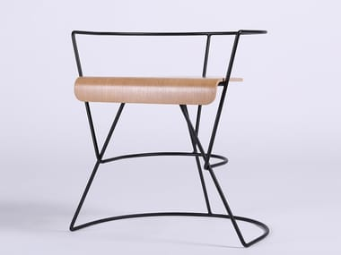 Open back multi-layer wood chair PATRICIUS 1