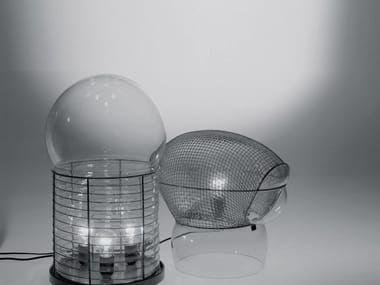Halogen blown glass table lamp with dimmer PATROCLO