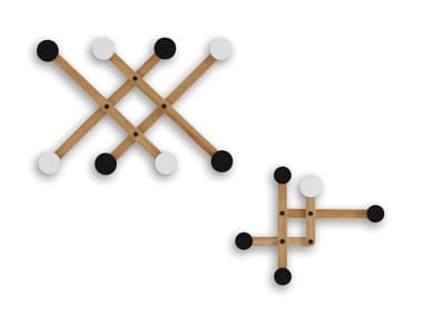 Wall-mounted wooden coat rack PAULI