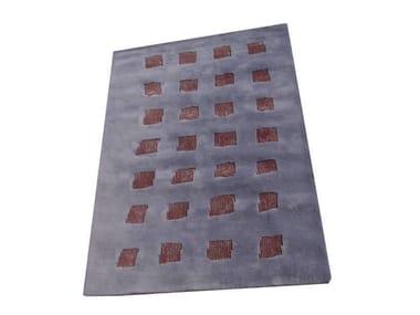 Handmade rectangular rug PAVE