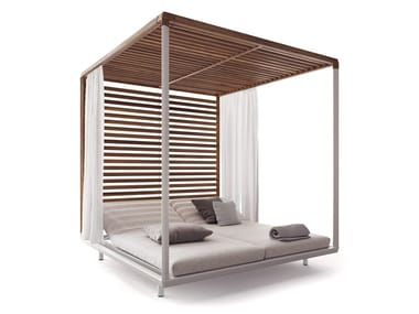 Canopy wooden garden bed PAVILION