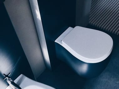 Wall-hung ceramic toilet PEAR | Toilet
