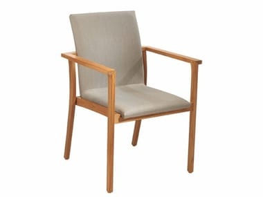 Garden chair with armrests PEARL | Chair with armrests