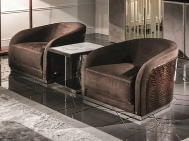 Leather Armchair With Armrests PEARL