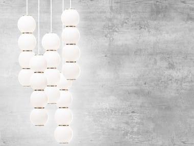Lampada a sospensione a LED in vetro satinato PEARLS 5