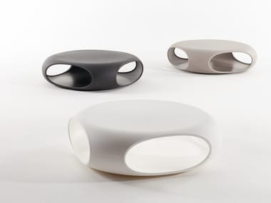 Tavolino basso in polietilene PEBBLE | Tavolino basso