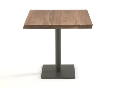 Square solid wood table PEBBLES SQUARED